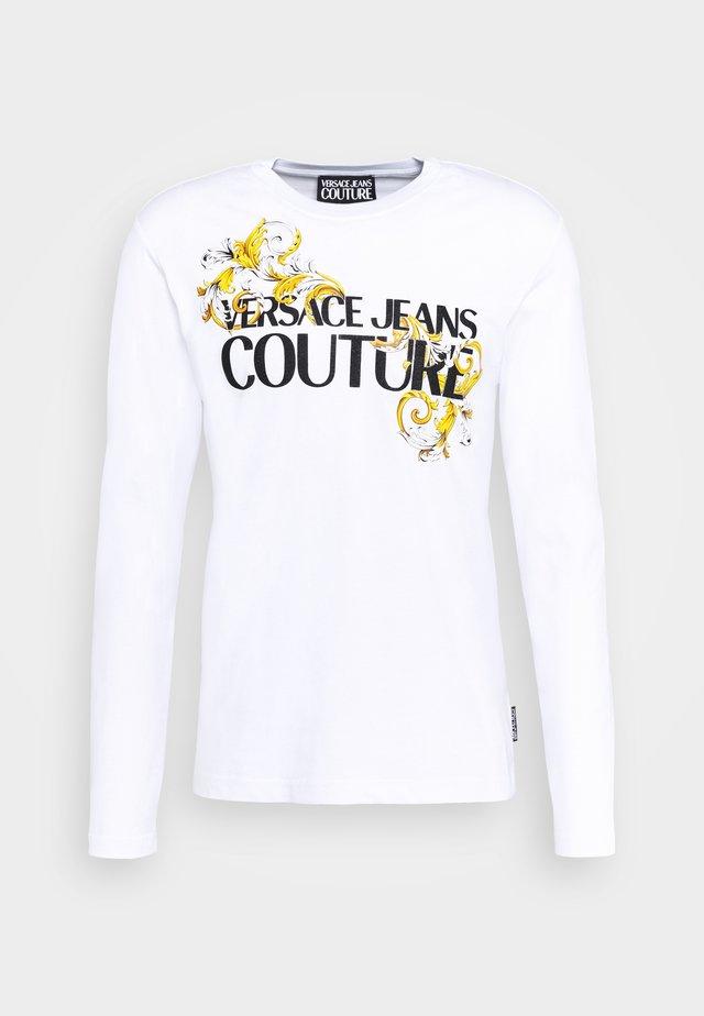 LOGO - Bluzka z długim rękawem - white/black/gold