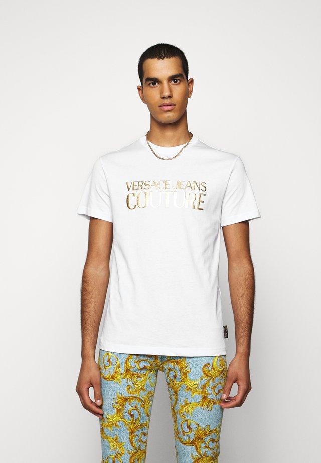 MOUSE - T-shirt z nadrukiem - white