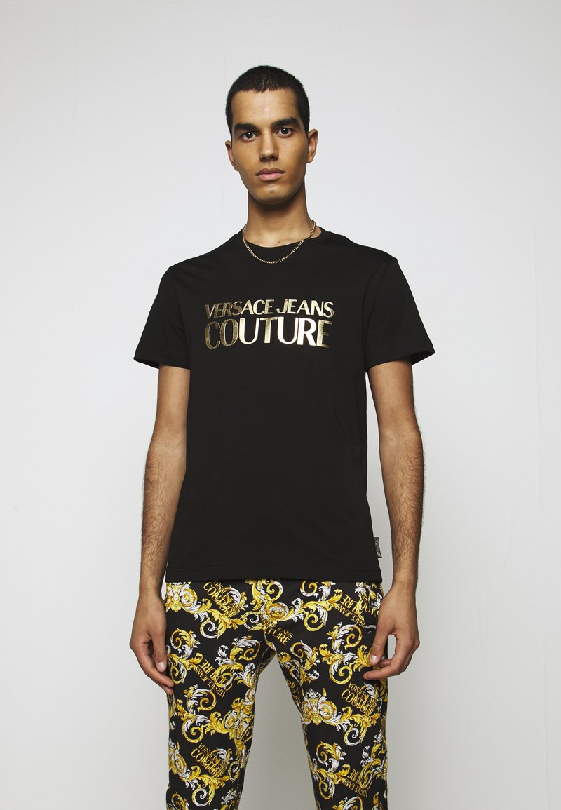 Versace Jeans Couture - MOUSE - T-shirt con stampa - black
