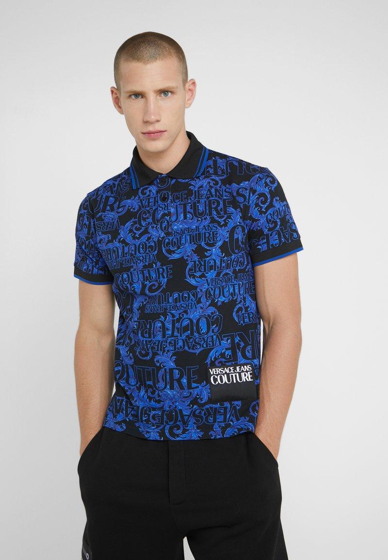 Versace Jeans Couture - BAROQUE  - Koszulka polo - black/blue