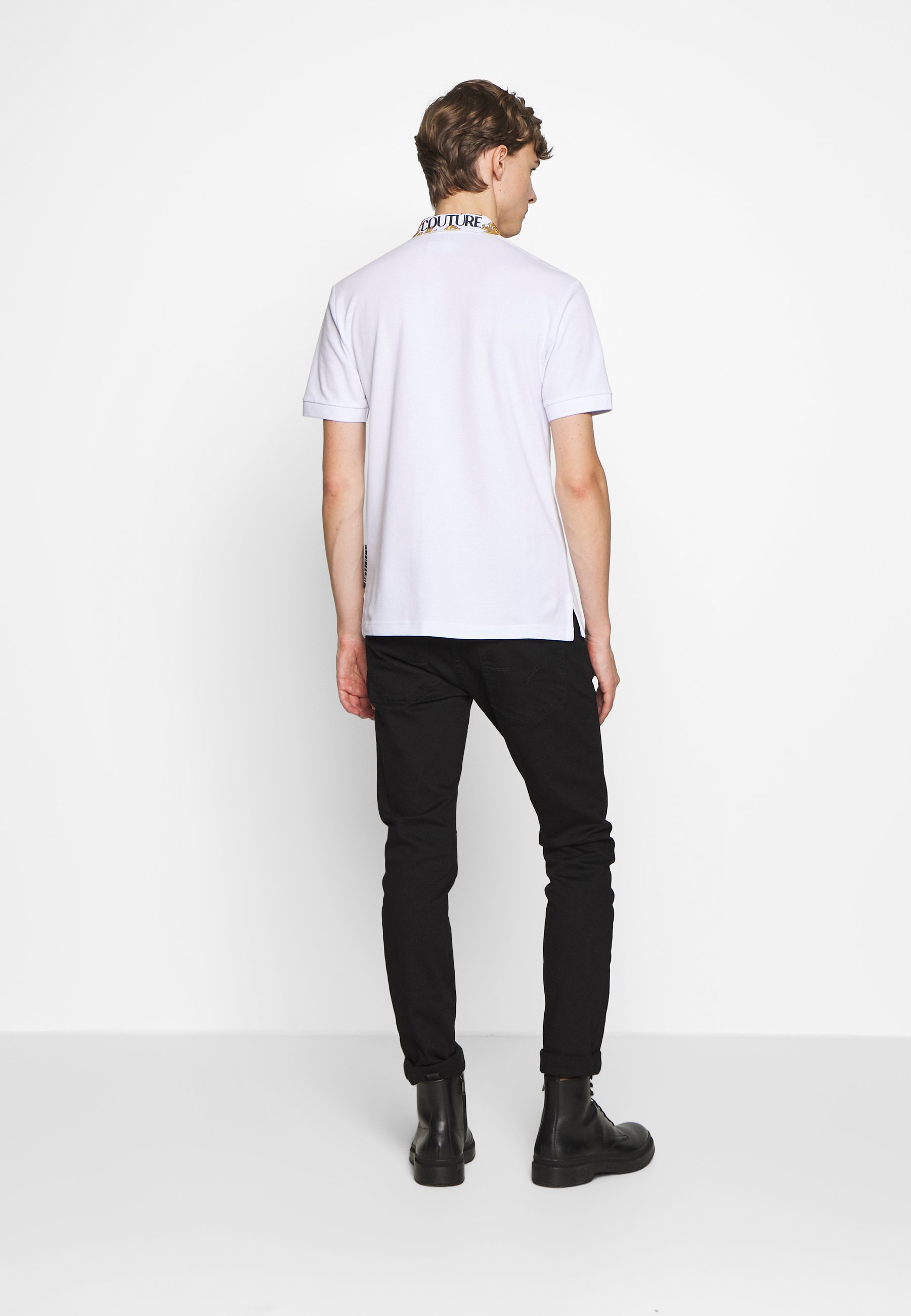 Versace Jeans Couture Baroque Collar Without The Patch - Polo White