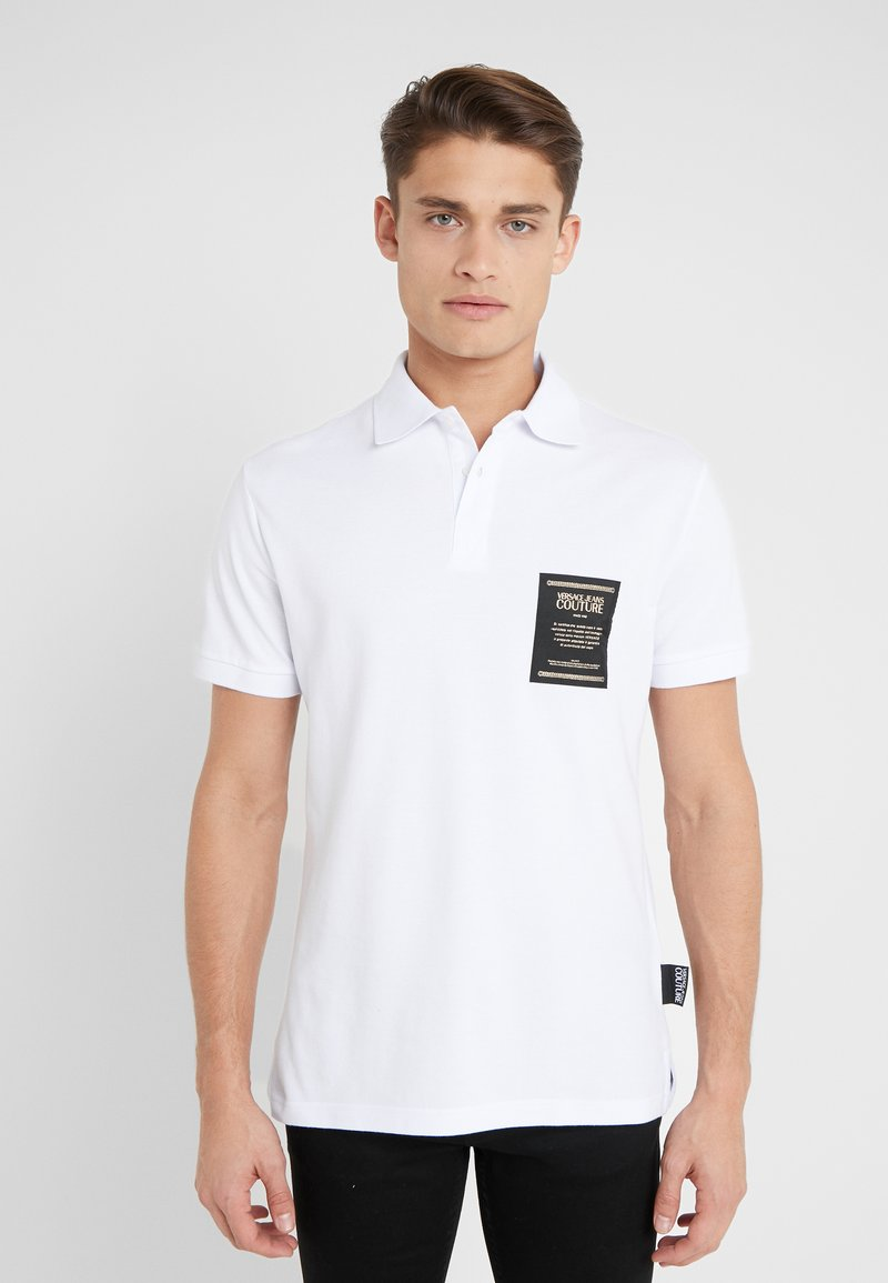 Versace Jeans Couture - LABEL POLO - Polo shirt - white