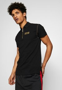 Versace Jeans Couture - ZIP POLO - Koszulka polo - black - 3