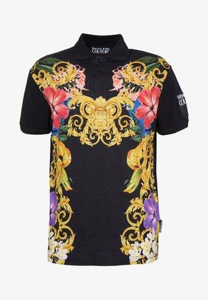 FLORAL PRINT - Polo shirt - black