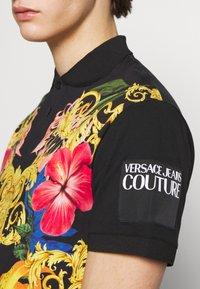 Versace Jeans Couture - FLORAL PRINT - Polo - black - 5