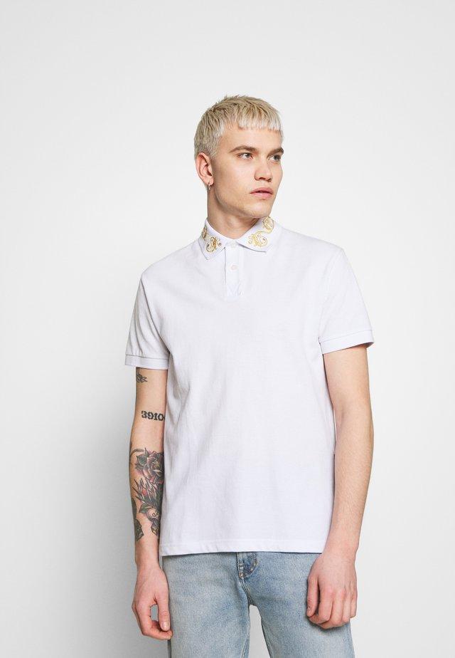 BAROQUE COLLAR GOLD - Poloshirt - white