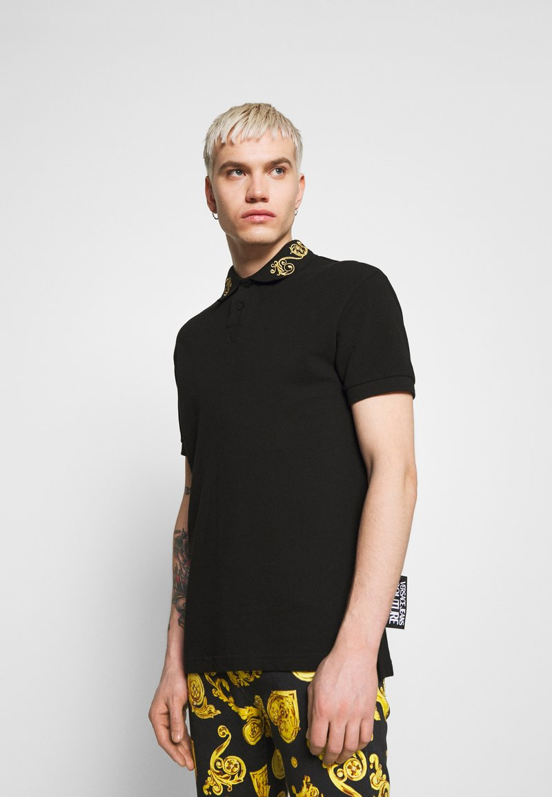 Versace Jeans Couture - BAROQUE COLLAR GOLD - Poloshirt - black