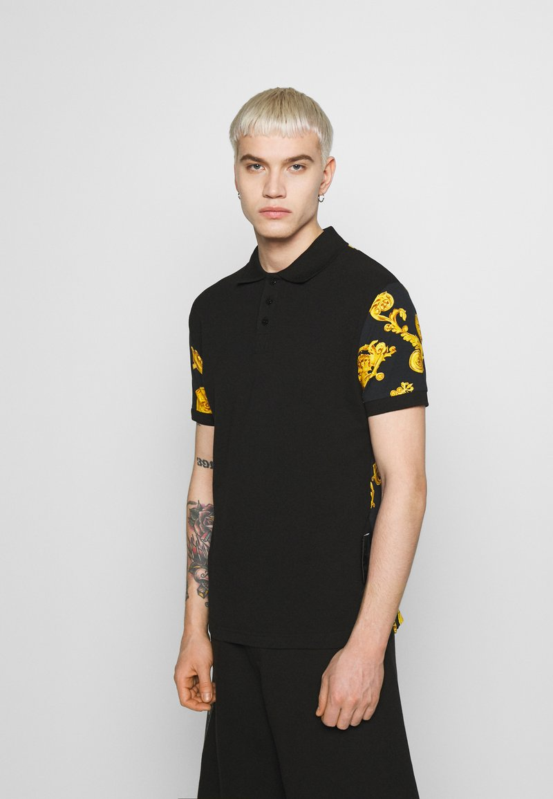 Versace Jeans Couture - GIOIELLI BACK PRINT - Poloshirt - black