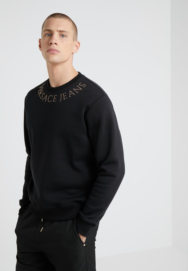 Versace Jeans Couture - EMBELLISHED - Mikina - nero