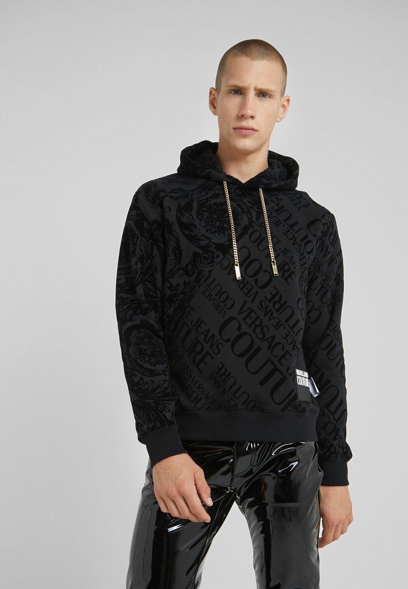 Versace Jeans Couture - BAROQUE HOODIE - Hoodie - black