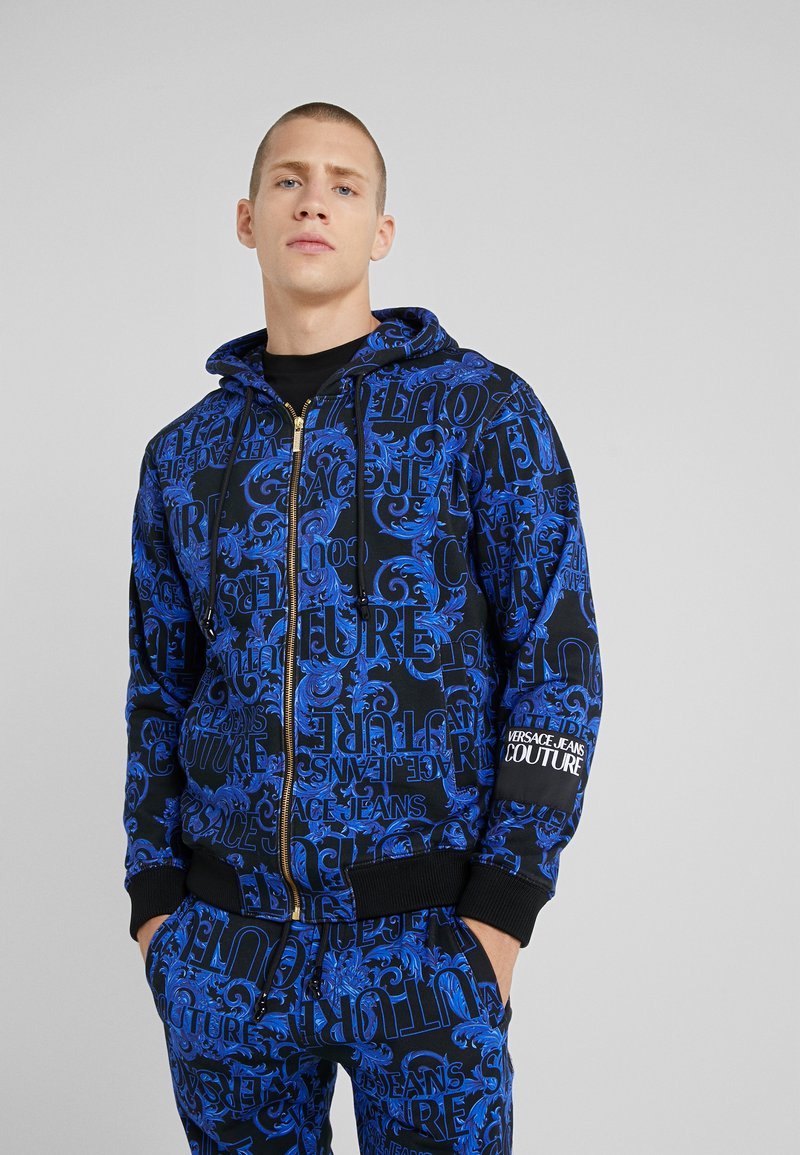 Versace Jeans Couture - BAROQUE ZIP HOODIE - Bluza rozpinana - dark blue