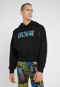 Versace Jeans Couture - EMBROIDERED HOODIE - Hoodie - black - 0