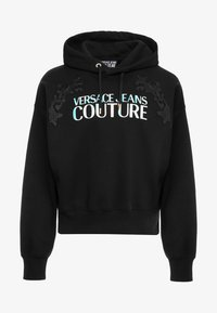 Versace Jeans Couture - EMBROIDERED HOODIE - Hoodie - black - 5