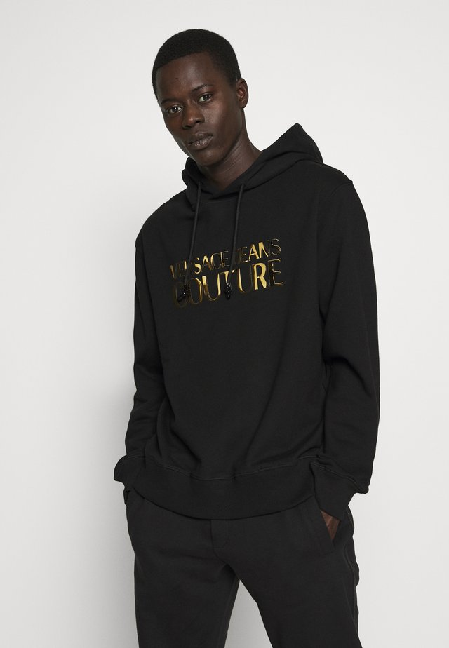 HOODIE REGULAR FIT FOIL LOGO - Huppari - black