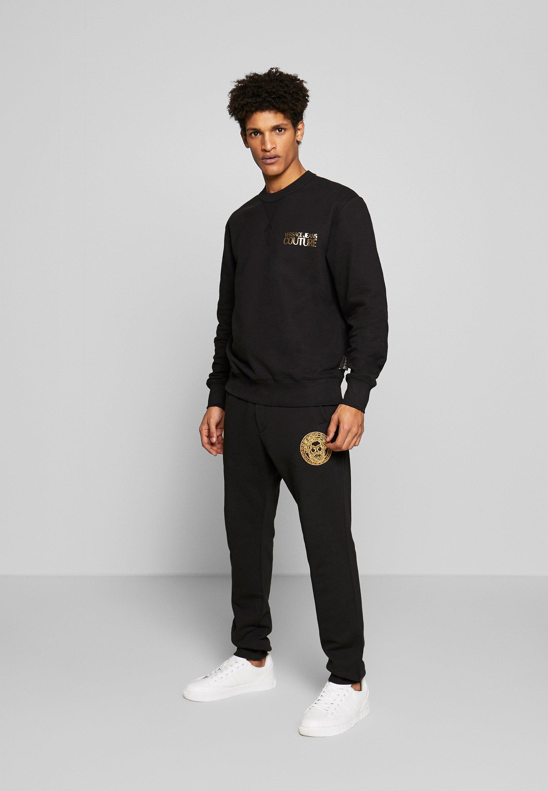 Versace Jeans Couture Crew Chest Logo - Sweatshirt Black yUTVtSS