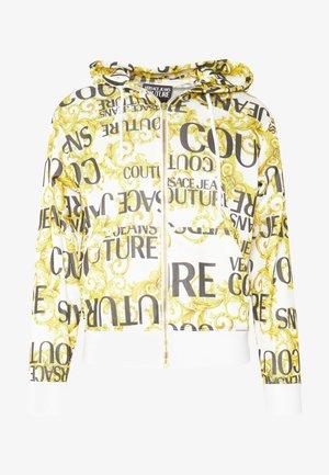 HOODIE ALLOVER PRINT ZIP THROUGH - veste en sweat zippée - white