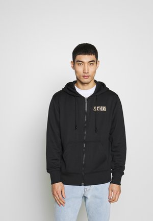 HOODIE ZIP THROUGH - Collegetakki - black