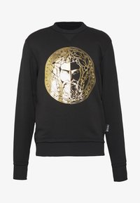 Versace Jeans Couture - CREW WITHOUT THE 'BE BAROQUE' PATCH - Sweat à capuche - black - 4