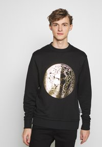 Versace Jeans Couture - CREW WITHOUT THE 'BE BAROQUE' PATCH - Sweat à capuche - black - 0