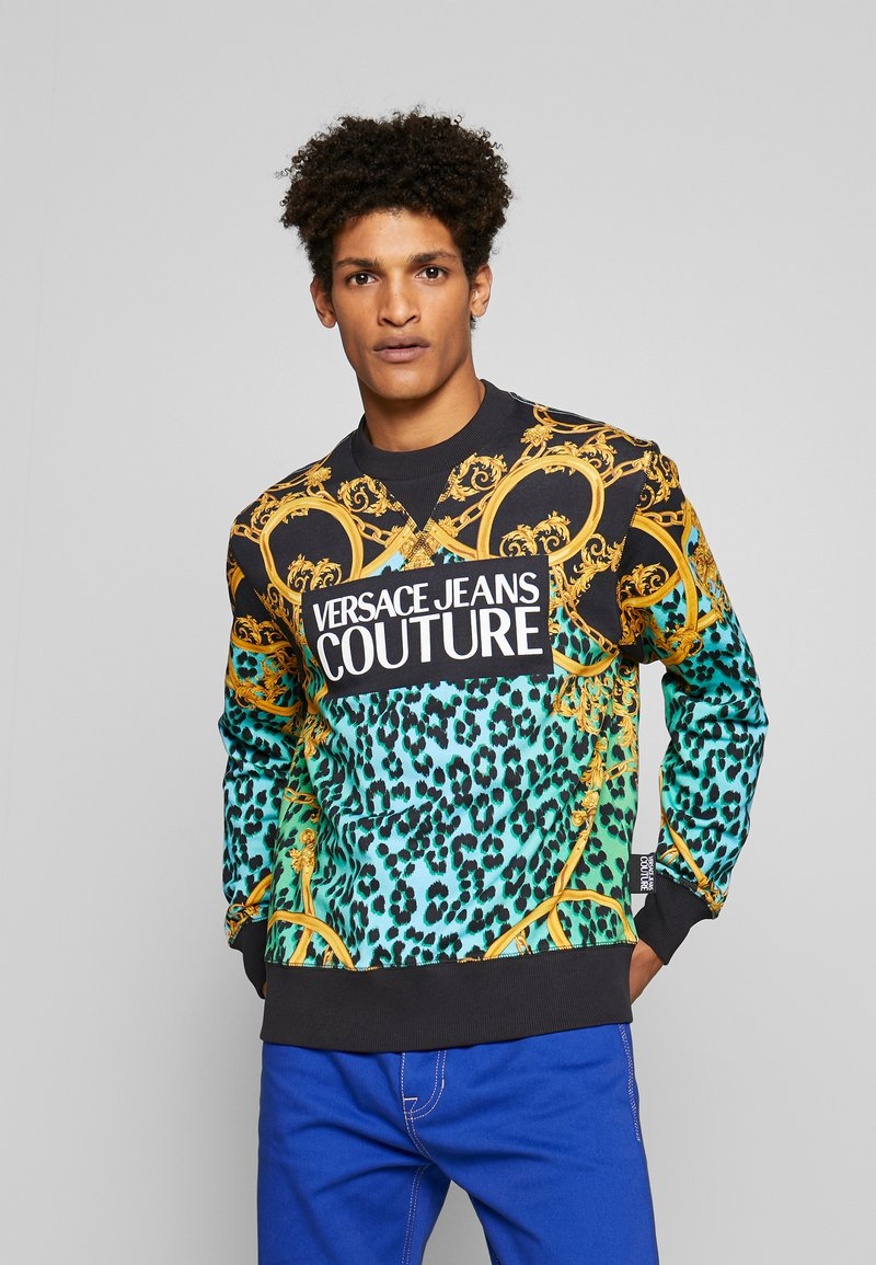 Versace Jeans Couture - CREW ALLOVER LEO  - Sweater - pure mint