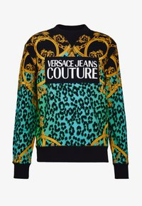 Versace Jeans Couture - CREW ALLOVER LEO  - Sweater - pure mint - 4