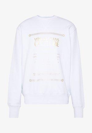 CREW LABEL LOGO - Sweatshirt - white