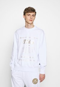 Versace Jeans Couture - CREW LABEL LOGO - Sweater - white - 0