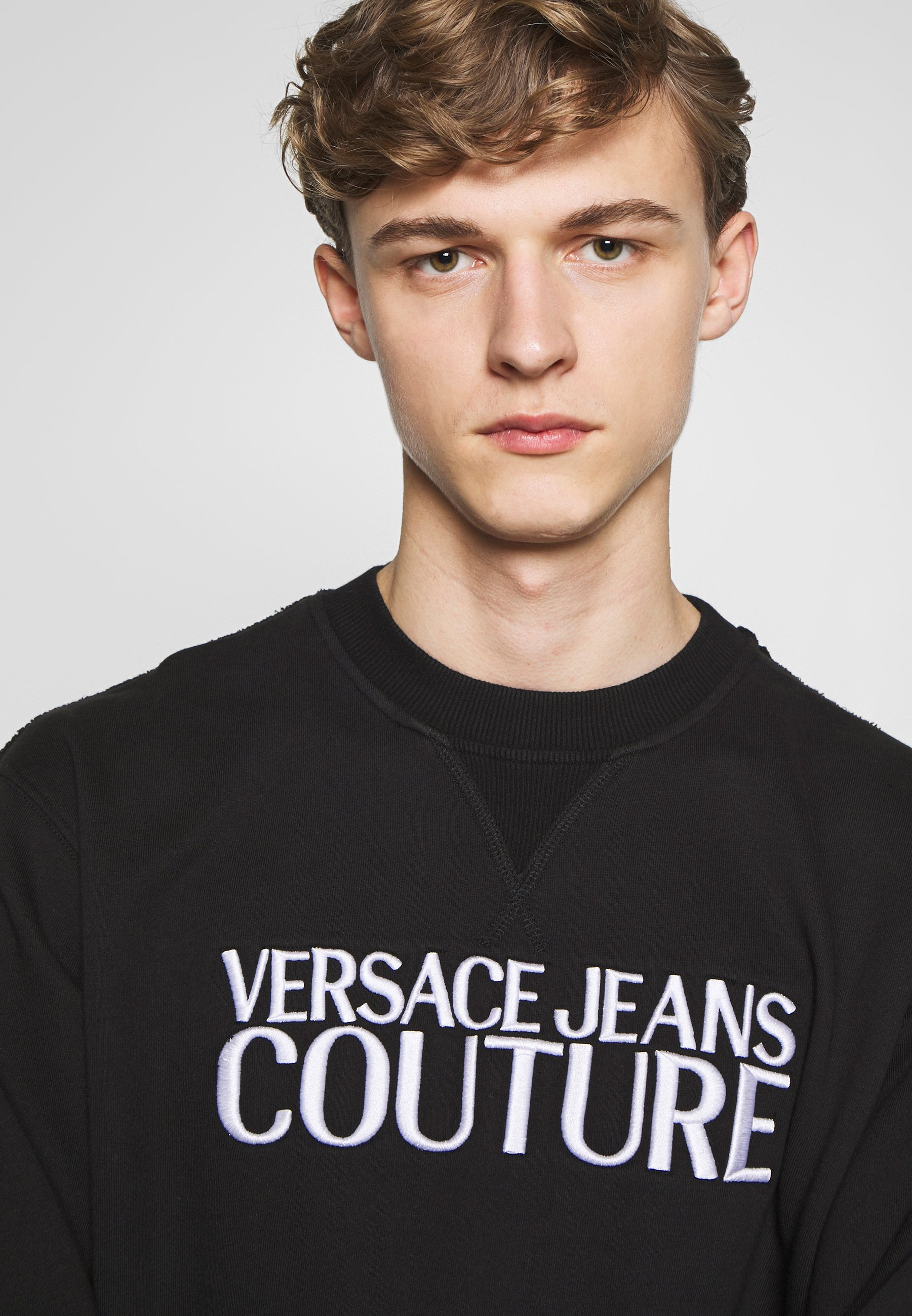 Versace Jeans Couture Crew Basic Logo Embroidered - Sweatshirt Black