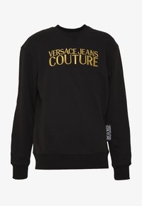 Versace Jeans Couture - CREW BASIC LOGO EMBROIDERED - Sweater - black - 4