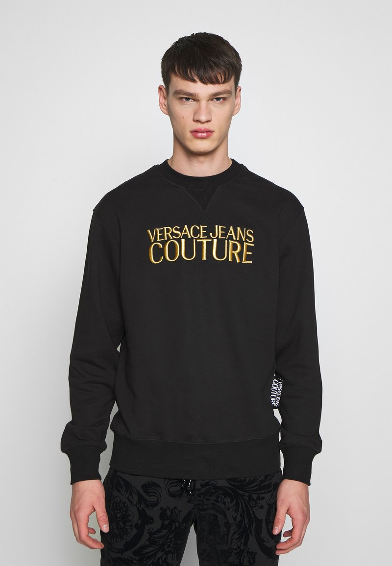 Versace Jeans Couture - CREW BASIC LOGO EMBROIDERED - Sweater - black
