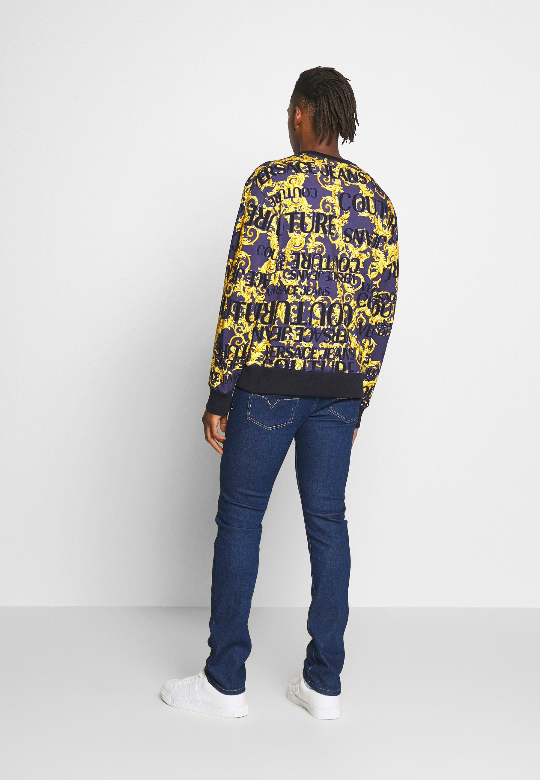 Versace Jeans Couture Crew Allover - Sweatshirt Blue