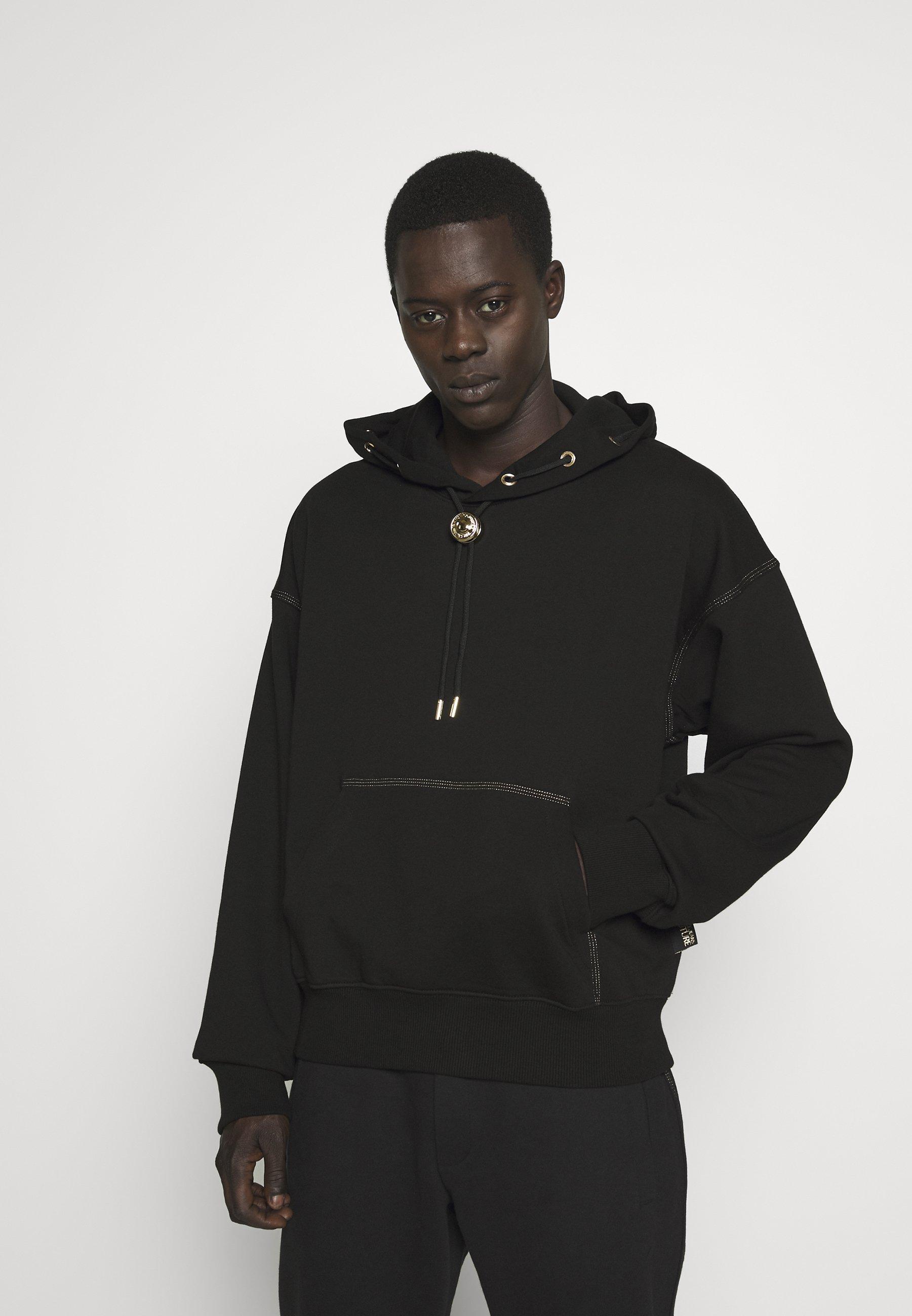 Versace Jeans Couture HOODIE RING - Bluza z kapturem - black