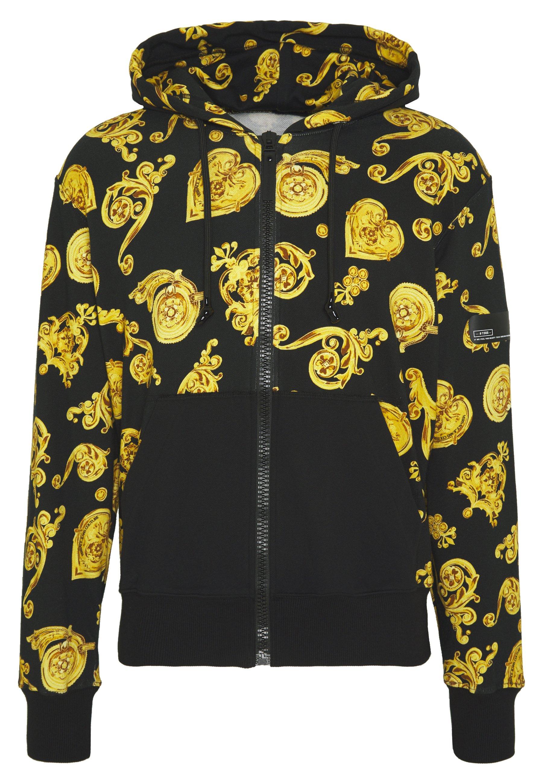 ZIP HOODIE GIOIELLI PRINT veste en sweat zippée black