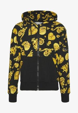 ZIP HOODIE GIOIELLI PRINT - veste en sweat zippée - black