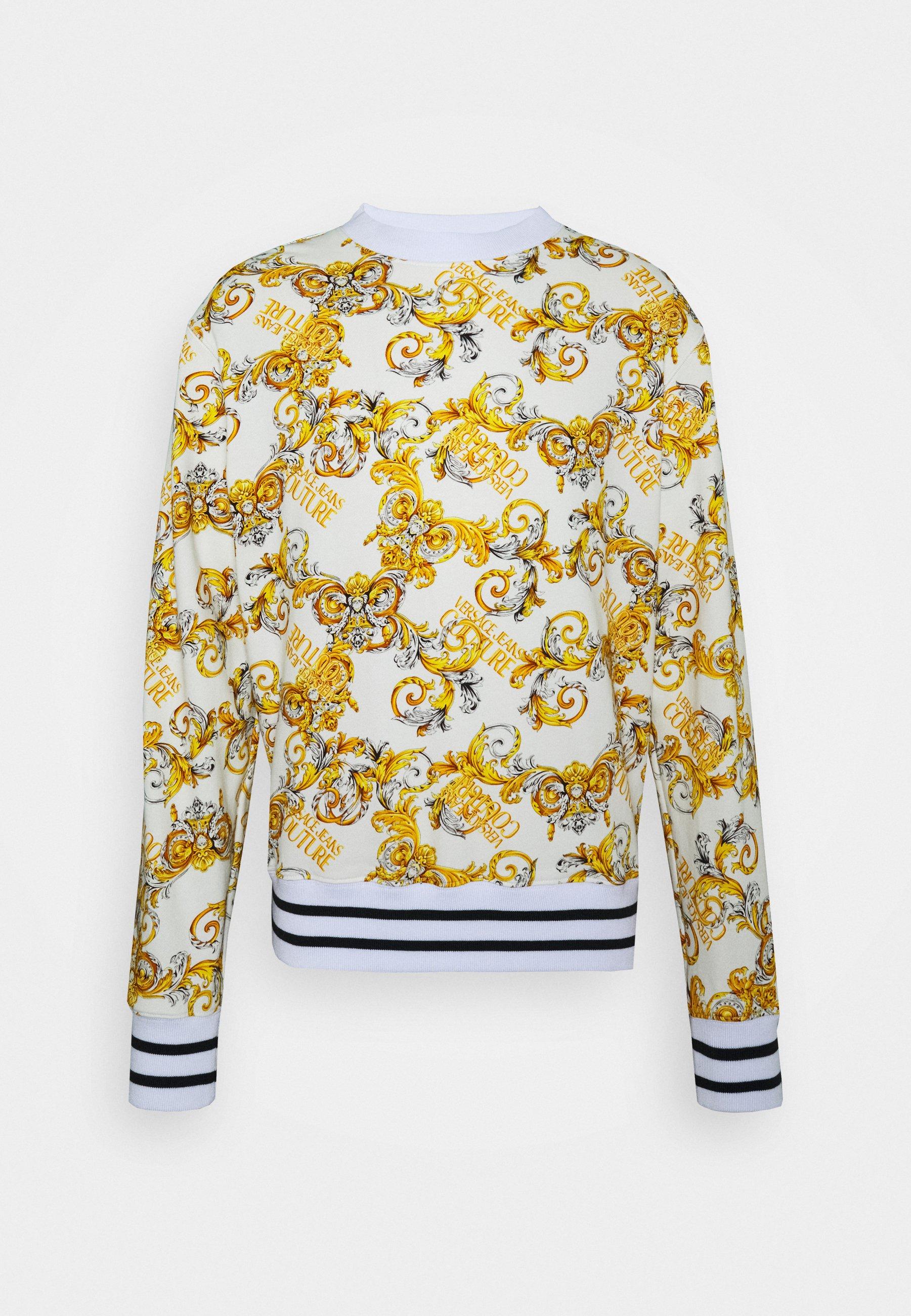 Orange Baroque Sweatshirt  Versace Jeans Couture  Sweatshirts