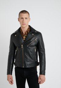 Versace Jeans Couture - CAPOSPALLA  - Leather jacket - nero - 3