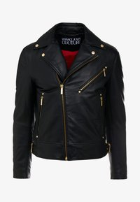 Versace Jeans Couture - CAPOSPALLA  - Leather jacket - nero - 6