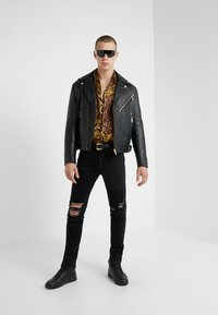 Versace Jeans Couture - CAPOSPALLA  - Leather jacket - nero - 1