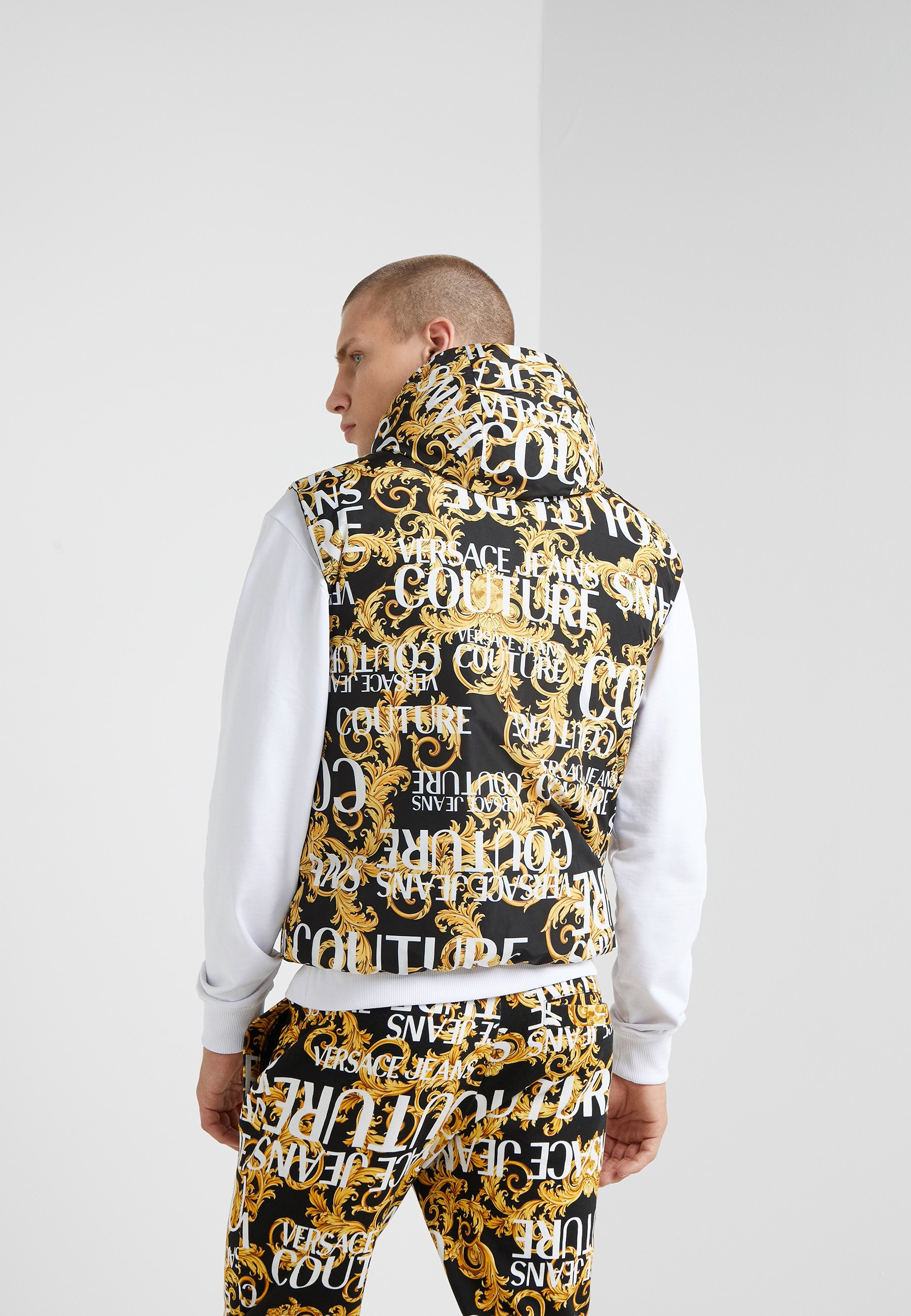 Reversible Couture Vest Nero Jeans Versace BaroqueSmanicato 3JFKlcT1