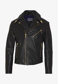 Versace Jeans Couture - JACKET - Veste en cuir - black - 4