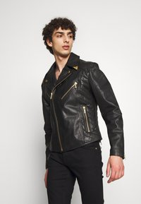 Versace Jeans Couture - JACKET - Veste en cuir - black - 3