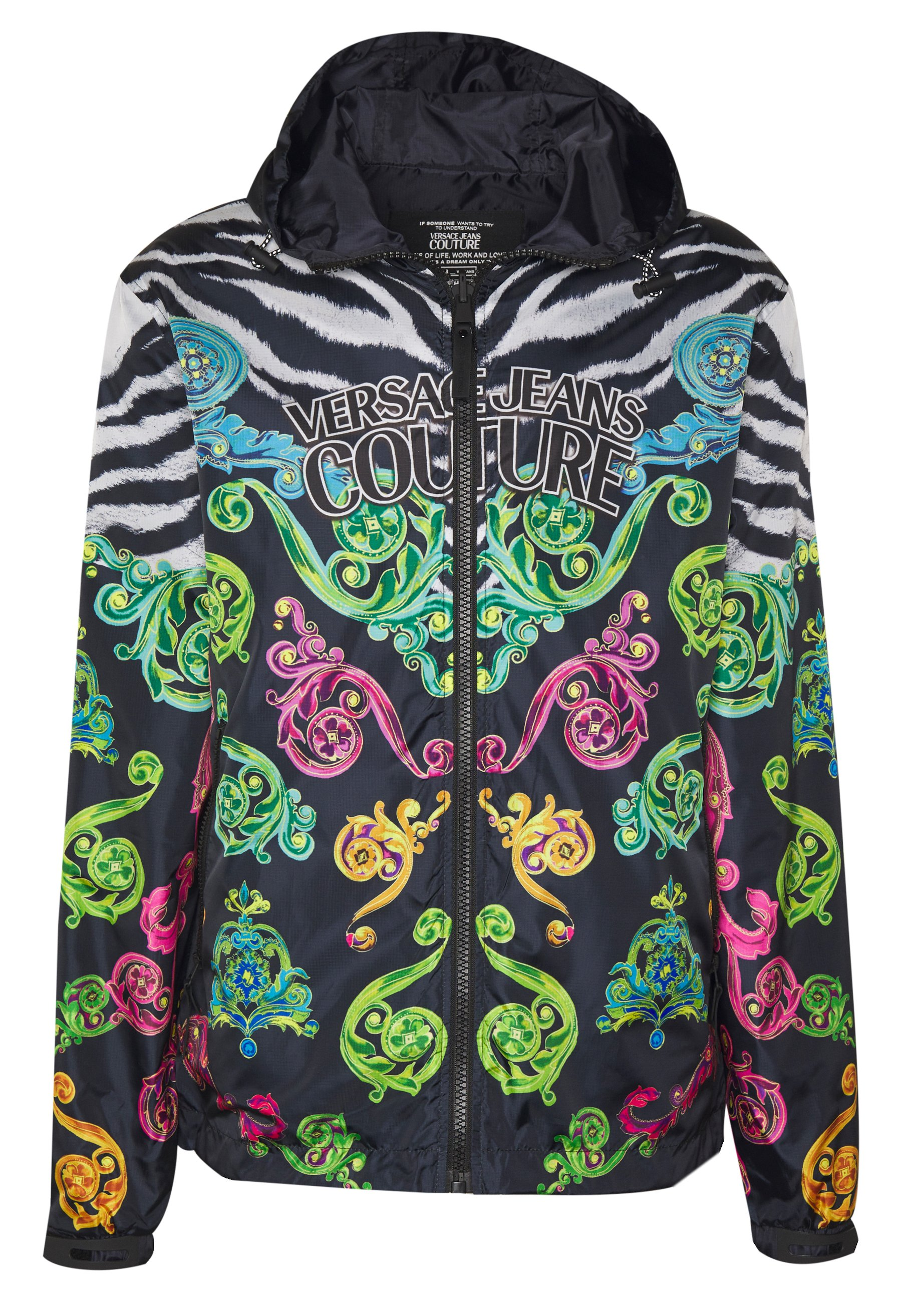 Versace Jeans Couture Jacket Front Logo Reversible - Tunn Jacka Black