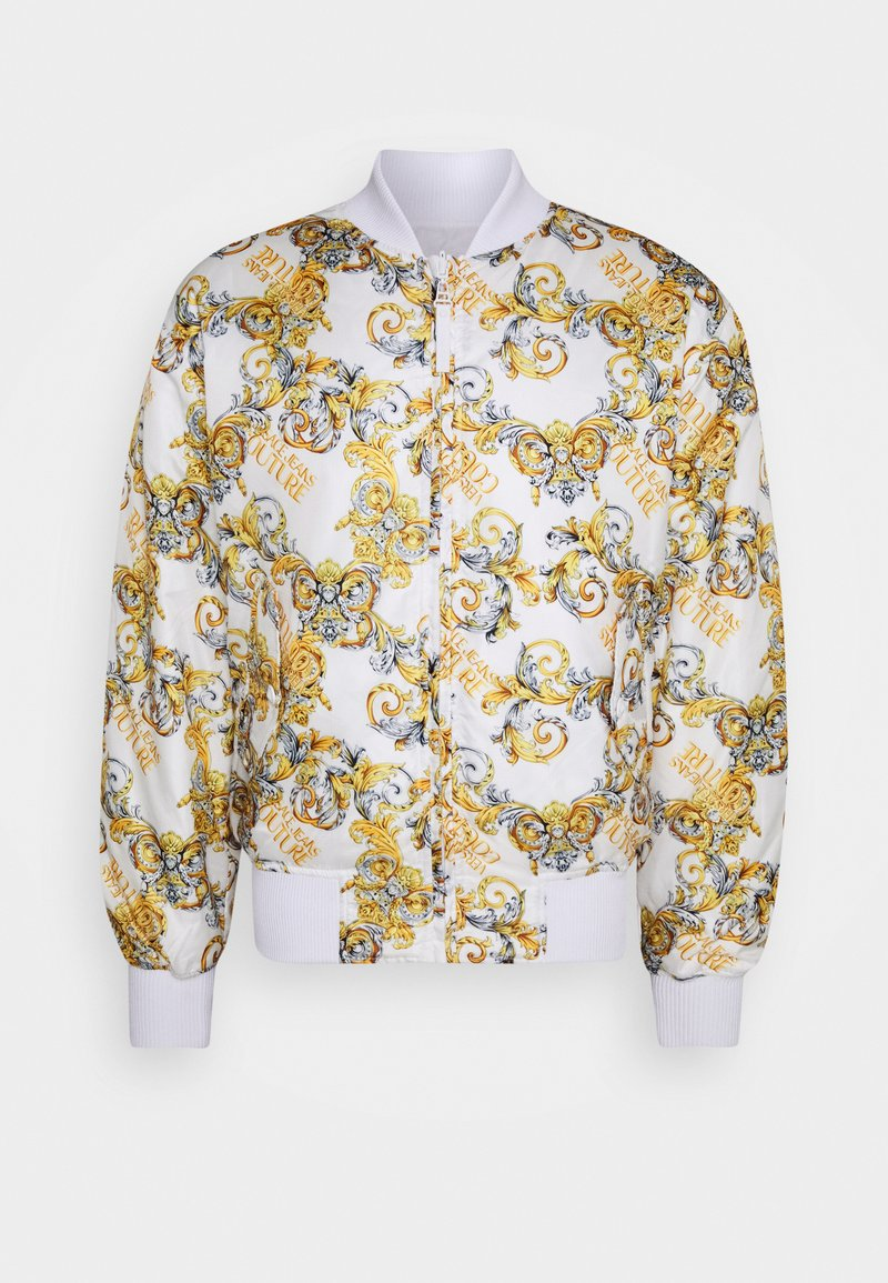 Versace Jeans Couture - RISTOP PRINTED LOGO BAROQUE - Bomber Jacket - bianco ottico