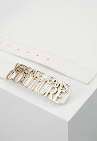 Versace Jeans Couture - LOGO BELT - Riem - bianco ottico - 2