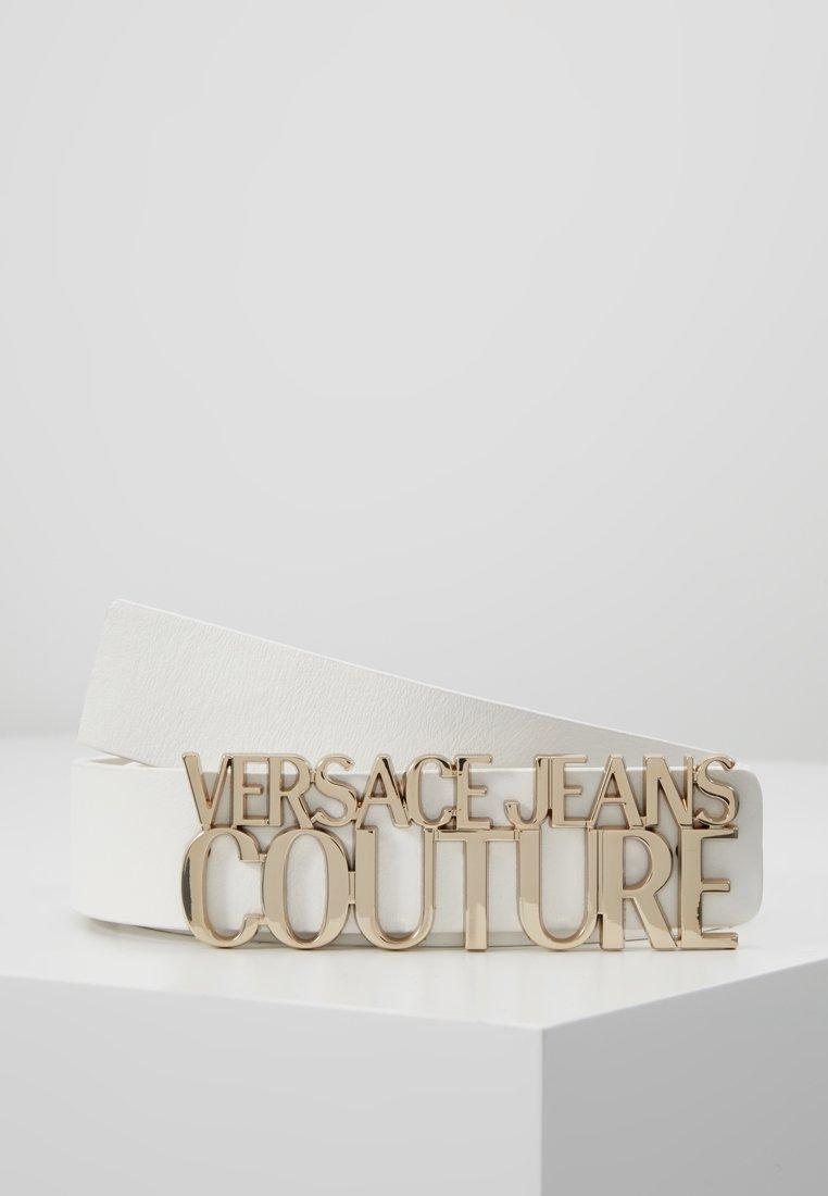Versace Jeans Couture - LOGO BELT - Riem - bianco ottico