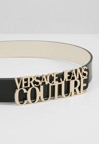 Versace Jeans Couture - LOGO BELT - Gürtel - nero - 4