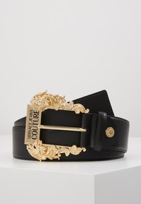 Versace Jeans Couture - WIDE BAROQUE BUCKLE BELT - Cintura - black - 0