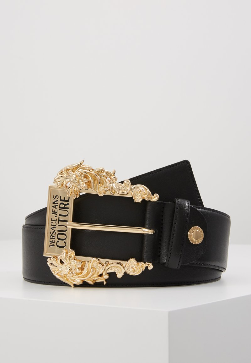 Versace Jeans Couture - WIDE BAROQUE BUCKLE BELT - Cintura - black