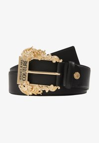 Versace Jeans Couture - WIDE BAROQUE BUCKLE BELT - Cintura - black - 1
