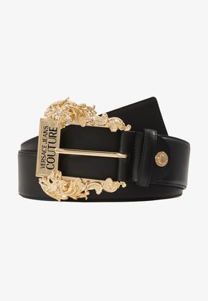 WIDE BAROQUE BUCKLE BELT - Pásek - black